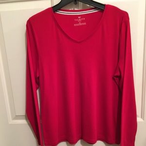 👚NWOT AUTHENTIC TALBOTS RED 💯COTTON PIMA T-SHIRT